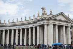 Italy, Rome, Vatican, St. Peter`s Square, colonnade. Italy, Rome, Vatican, St. Peter`s Square, Bernini`s colonnade Stock Image