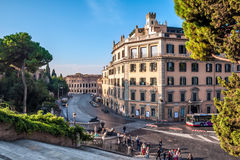Italy, Rome, Via del Teatro di Marcello. View of the Via del Teatro di Marcello on Capitol Hill Stock Images