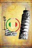 Italy Rome vintage art design illustration Royalty Free Stock Photo