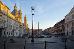 Italy Rome Piazza Navona. The Piazza Navona was originally a Roman racecourse. Now it is one of the most beautiful and liveliest squares in Romer, Italy Stock Image