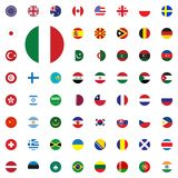 Italy round flag icon. Round World Flags Vector illustration Icons Set. Italy round flag icon. Round World Flags Vector illustration Icons Set Stock Image