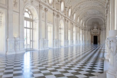 Italy - Royal Palace: Galleria di Diana, Venaria fotografia de stock