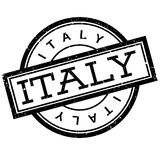 Italy rubber stamp Royalty Free Stock Images