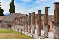 Italy. Ruins of Pompey. Royalty Free Stock Images