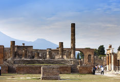 Italy. Ruins of Pompey Royalty Free Stock Images