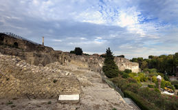 Italy. Ruins of Pompey Royalty Free Stock Photo