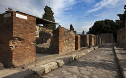 Italy. Ruins of Pompey Stock Photography
