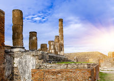 Italy. Ruins of Pompey Stock Photo