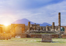 Italy. Ruins of Pompey. Royalty Free Stock Photo