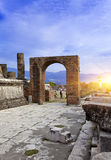 Italy. Ruins of Pompey. Royalty Free Stock Image