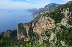 Italy`s Amazing Amalf Coast and the Mediterranean Stock Image