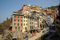 Italy at it's best, beautiful Riomaggiore. Stock Photos
