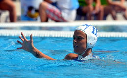 Italy's COTTI Aleksandra (ITA,7) and her high five. stock images