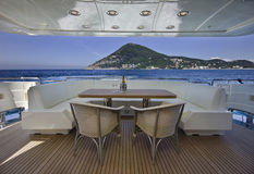 Italy, S.Felice Circeo (Roma), iate luxuoso Imagem de Stock Royalty Free