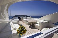 Italy, S.Felice Circeo (Rome), luxury yacht Stock Image