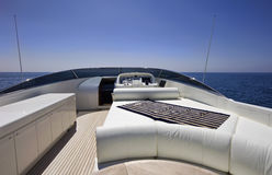 Italy, S.Felice Circeo (Rome), luxury yacht Stock Images