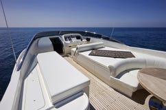 Italy, S.Felice Circeo (Rome), luxury yacht Royalty Free Stock Photography