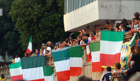 Italy's soccer fans celebrate the victory on 2006 Stock Images