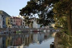 Italy , Sardinia, Bosa. River Temo. Sardinia, Bosa. River Temo and fishing boats Royalty Free Stock Photos