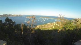 Sardinia sea  landscape capo coda cavallo stock footage