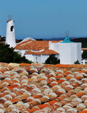 Italy Sardinia typical church. Sardinia church view from roofs Stock Photography