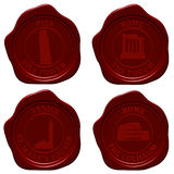 Italy sealing wax set Stock Photography