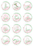 Italy. Seals and stamps. Seals and stamps of Italian cities with their main sights stock illustration