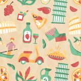 Italy seamless pattern Stock Photography