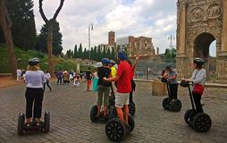 italy Segwayen turnerar i Rome Royaltyfria Foton