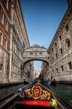 Italy September 2017 - view of the bridge of the sospiri of venice by the gondola Stock Photo