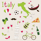 Italy set Royalty Free Stock Photos