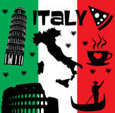 Italy set Royalty Free Stock Photos