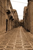 Italy - Sicília velhos, cidade de Eriche foto de stock