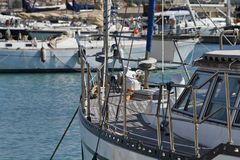Italy, Siciliy, Mediterranean sea, sailing boats Stock Photo