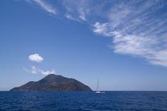 Italy Sicily Aeolian Islands, Stromboli royalty free stock photography