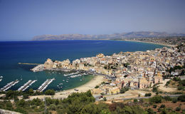 Italy, Sicily, Castellamare del Golfo village. stock image
