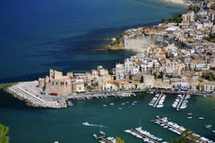 Italy, Sicily, Castellamare del Golfo village. royalty free stock photos