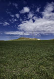 ITALY, Sicily, Eolic energy turbines Stock Photos