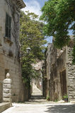 Italy, Sicily, Erice,. Historic street in town of Erice in Sicily Stock Photo