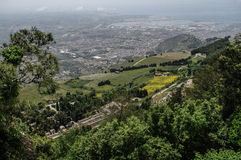 Italy, Sicily, Erice,. Panoramic view of Trapani from the hill of Erice, Sicily, Italy Royalty Free Stock Image