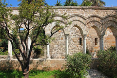 Italy. Sicily island. Palermo city. The monastery courtyard (clo Stock Image