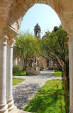 Italy. Sicily island. Palermo city. The monastery courtyard (clo Royalty Free Stock Photos