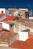 Italy. Sicily island . Province of Palermo. Cefalu. Roofs Stock Photography