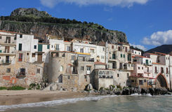 Italy. Sicily island . Province of Palermo. View of Cefalu Stock Photography