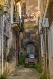 Italy, Sicily: The old streets of acireale Royalty Free Stock Photos