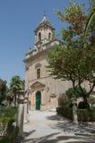 Italy, Sicily, Ragusa Ibla, the baroque San Giacomo Church bell royalty free stock photography