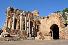 Italy, Sicily, Taormina, the greek theater Stock Images