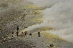 italy sicily vulkan Royaltyfria Bilder