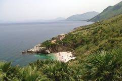 Italy, Sicily, Zingaro. Reserve Zingaro (nature and landscape) on the coast of Sicily, Italy Royalty Free Stock Images