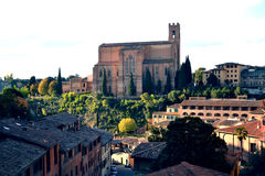 Italy. Siena, Italy - November 2016: view of the Basilica of San Domenico in Siena stock photo